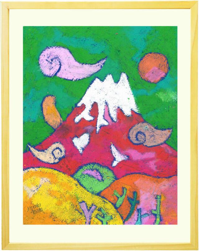 赤富士・富士山の縁起が良い絵画