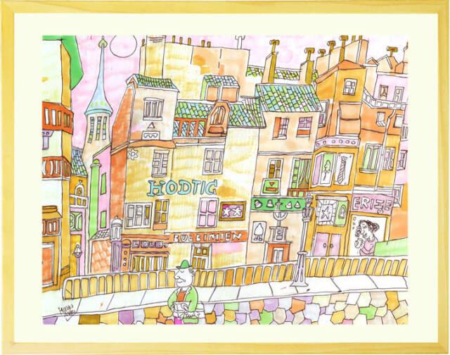絵画 洋画 ヨーロッパ 風景画 水彩画 森浩毅 もりひろき