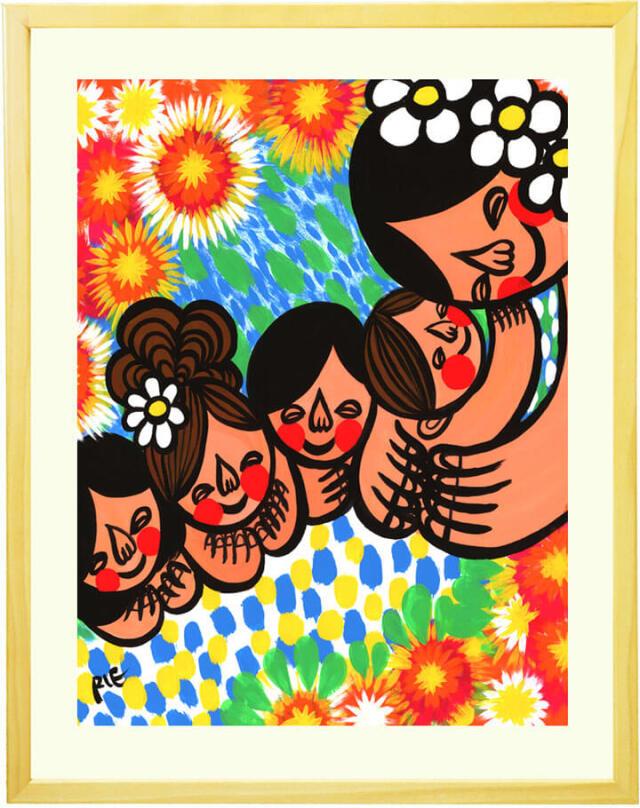 アジアン絵画、世界中に笑顔を広げるアーティストRIE、画家