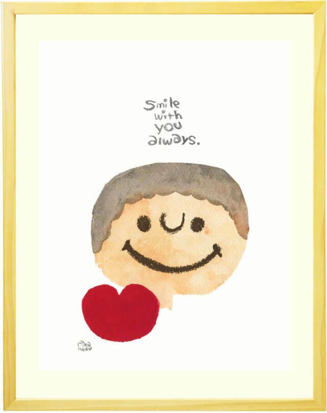 絵画 インテリア 笑顔 クレヨン 元気が出る絵 かわいい
