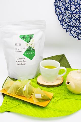 緑茶ティーバッグ大袋(糸つき3g×60個入)