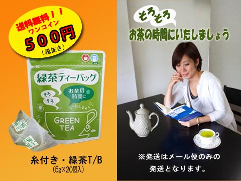 お茶の時間(糸付・緑茶T/B-5g×20個入)