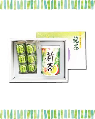 新茶(100g×1本)・ようかん(3個袋入り×2本)セット