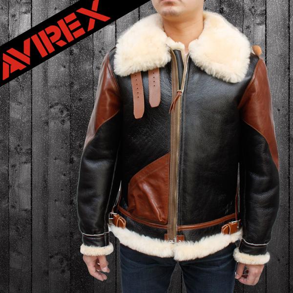 AVIREX(アヴィレックス) B-3ムートン ヴィンテージタイプ レザージャケット 2131026