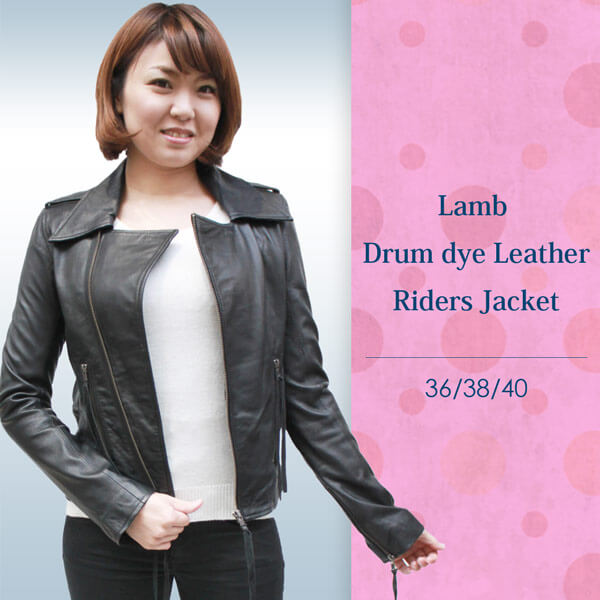 ライダースジャケット ラム革 ダブルライダース レディース レザージャケット 3045