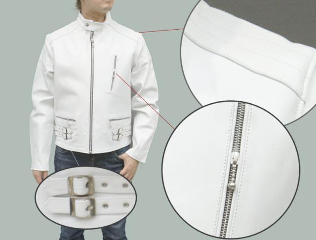 【メンズライダースジャケット】カウレザーシングルライダースレザージャケット