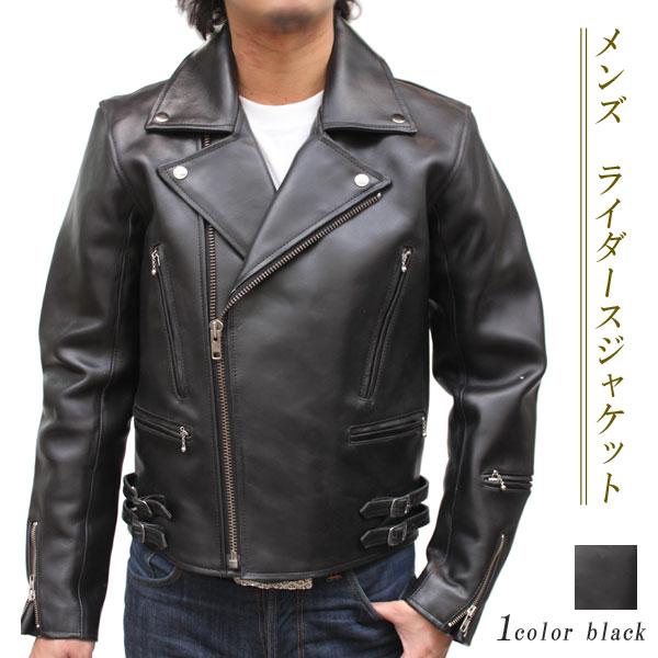 【メンズ ライダースジャケット】カウ革ジャケット ダブル レザージャケット6053-P