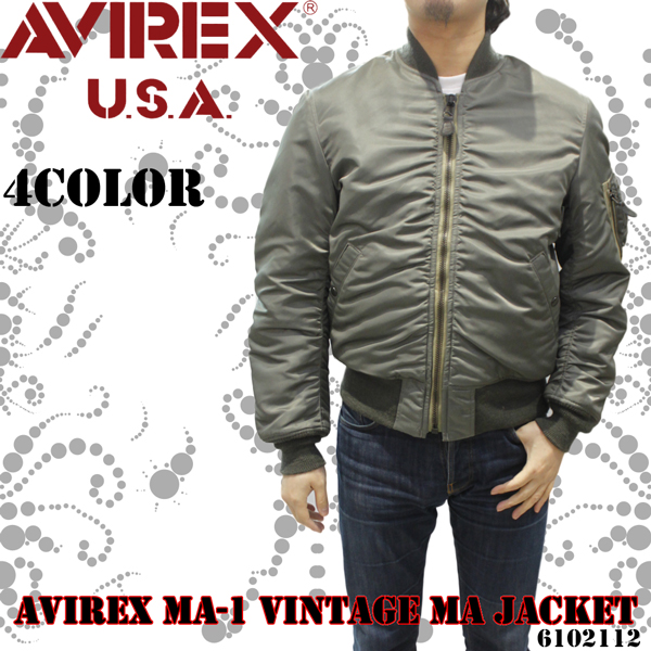 メンズ アヴィレックス MA-1ヴィンテージ ma ジャケット6102112