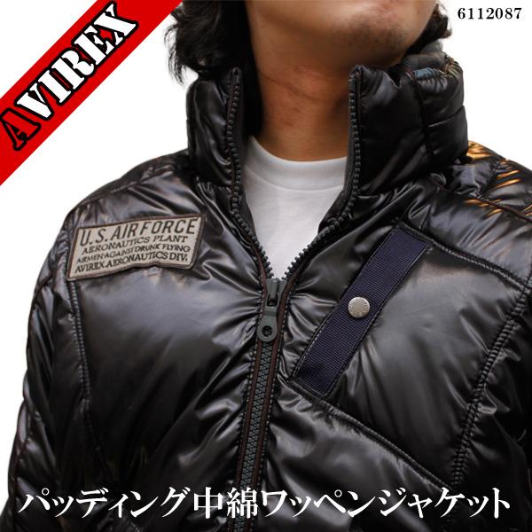 【 メンズ AVIREX 】アビレックス パッディング ワッペン付き 中綿ジャケット 6112087
