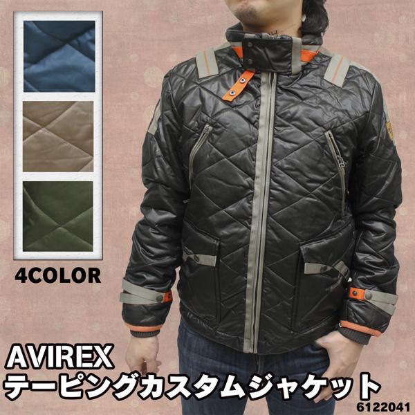 AVIREX メンズ テーピングカスタムジャケット 6122041