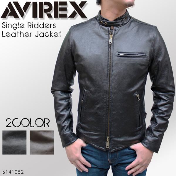 AVIREX(アヴィレックス) シングルライダース レザージャケット Single Riders 6141052