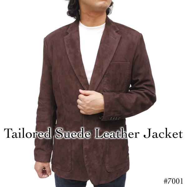 テーラードスウェードレザージャケット7001