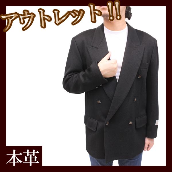 ( アウトレット・OUTLET ) メンズ カシミヤジャケット メンズ ダブル衿 テーラードジャケット 8516