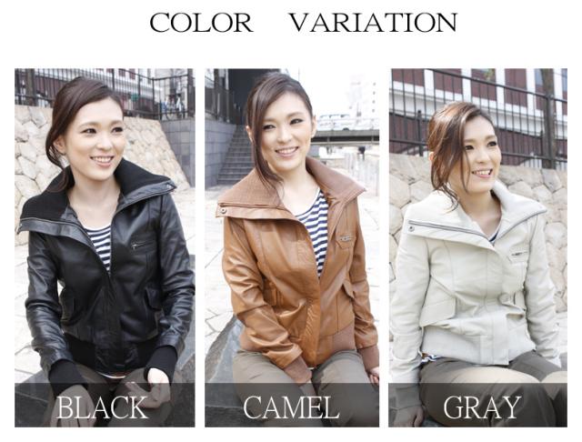 ラム革ジャケット スタンドカラー ミリタリー レザージャケット 2505