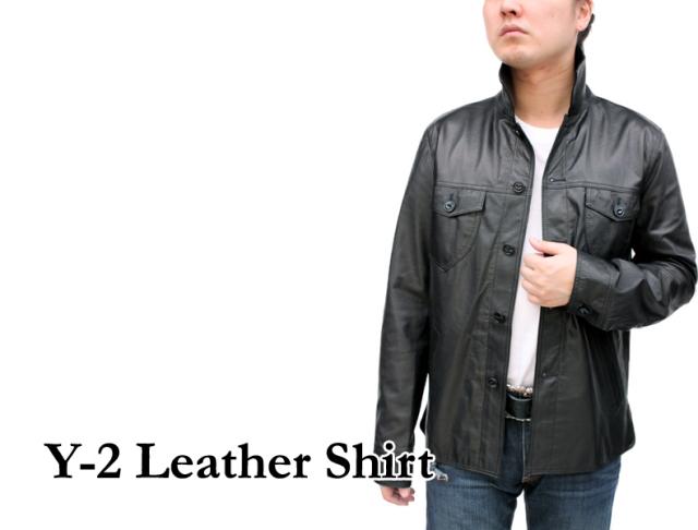 Y-2レザーシャツ SS14
