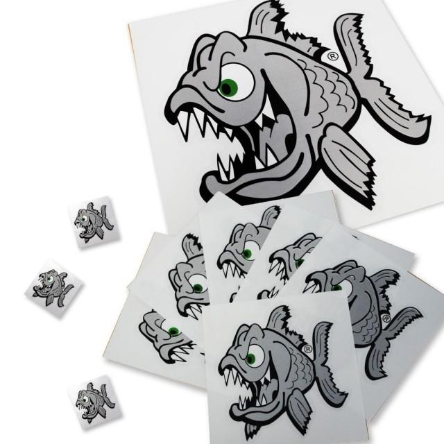 【Pyranha】 Angry Fish ステッカー