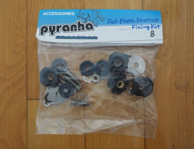 ピラニアカヤックスペアパーツ【Full Plate Footrest Fixing Kit B】フルプレート・フットレストフィクシングキットB