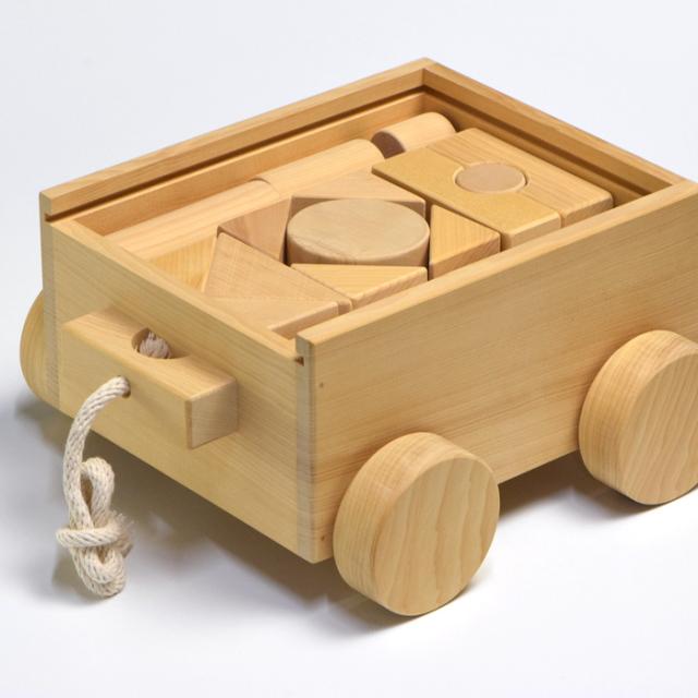 榧の積み木セット(35ピース箱)