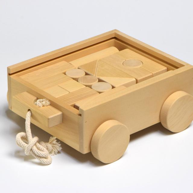 榧の積み木セット(17ピース箱)