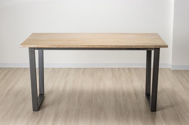 バリカフェ ダイニングテーブル グレーホワイトウォッシュ