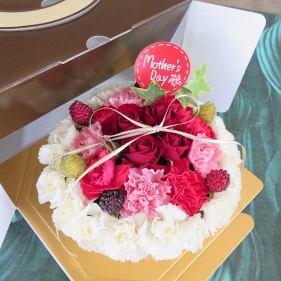 おいしそうなフラワーケーキ【送料無料母の日ギフト】