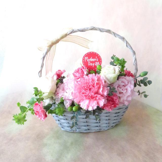 ハッピーオーラの花かご【送料無料母の日ギフト】18md050