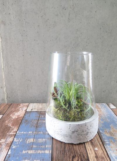 0532フェイクグリーン ガラス&ストーン(Sサイズ)