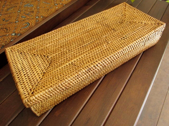 アタ製・ふた付きカトラリーケース(長さ約28cm/蝶つがい付きタイプ)AT020