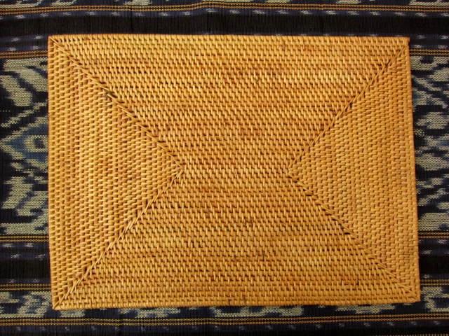 アタ製・長方形ランチョンマット(Lサイズ・ナチュラルカラー)AT021