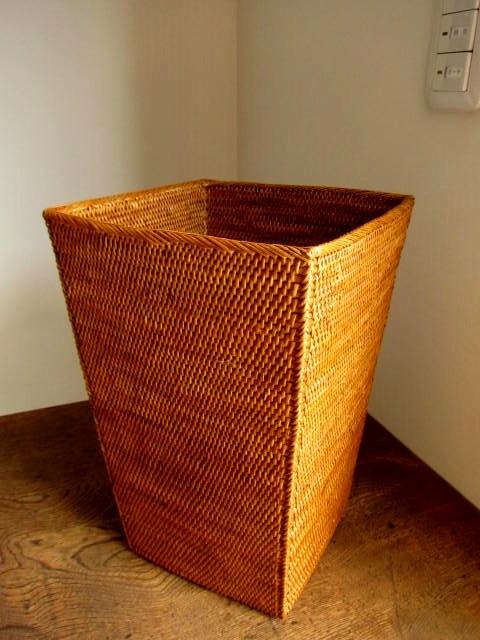 アタ製 角型くずかごボックス(平編み/高さ30cm)AT124