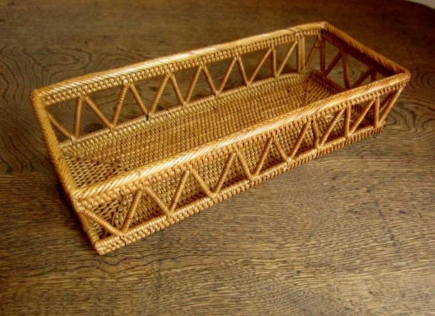 アタ製・カトラリーケース(透かし入り・長さ25cm・蓋なし)AT155