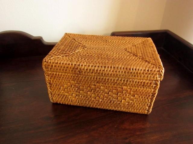 アタ製お弁当箱/小物入れ(15cm×10cm×H8cm/ふた付き)AT164