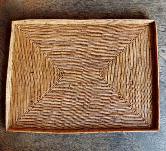 アタ製・縁付きレクト(長方形)トレイ/ランチョンマット/テーブルマット(40cm×30cm×高さ2cm)AT204