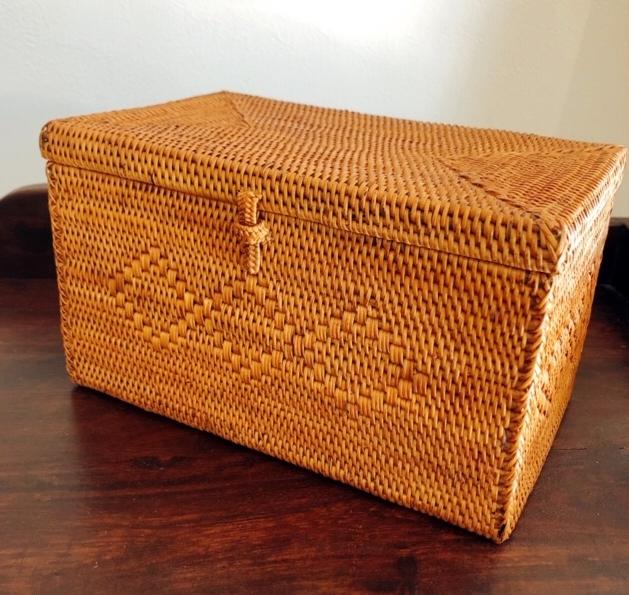 アタ製マスク収納ボックス/小物入れ(22cm×13cm×H13cm/ふた付き・模様入り)AT208