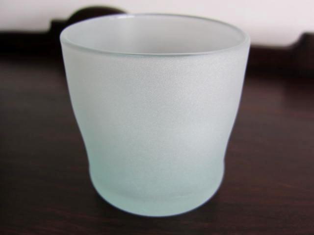 バリ島セイキグラスのロックグラス/ウォーターグラス(サンドブラスト/フロストグラス)GS017