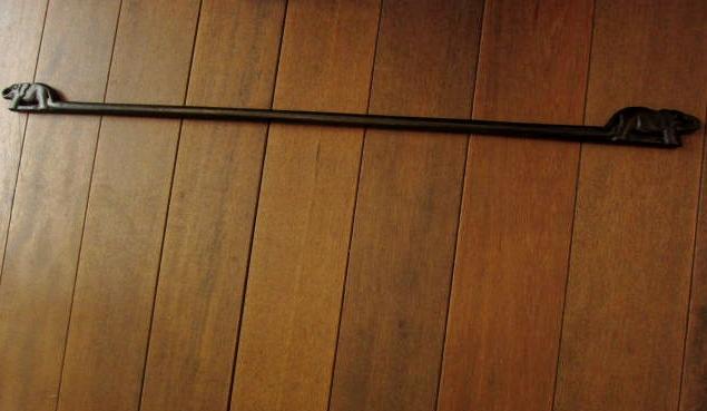 イカットハンガー80(ゾウの木彫り/ブラック、80cm)IH004