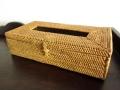 アタ製・ティッシュボックス(ナチュラルカラー/編み模様入り)AT045