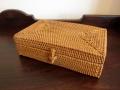 アタ製ふた付き長方形ボックス・アクセサリー小物入れ(平編み)AT157
