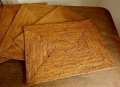 【アウトレット】アタ製・長方形ランチョンマット(Lサイズ・ナチュラルカラー)AT160a