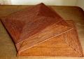 【アウトレット】アタ製・長方形ランチョンマット(Lサイズ・ダークブラウン)AT161a