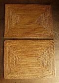 【アウトレット】アタ製・長方形ランチョンマット(Sサイズ・ナチュラルカラー)AT168a