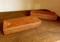 【アウトレット】アタ製・ふた付きカトラリーケース(28cm/ふたが取り外せるタイプ)AT175a