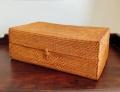 アタ製アロマケース/アロマオイル収納ボックス(27cm×15cm×H10cm/ふた付き・模様入り)AT211