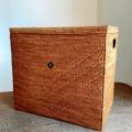 アタ製ペットボトル収納ボックス/マガジンボックス/収納ボックス(蓋付き/黒モチーフ・模様入り/持ち手付き)AT214