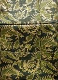 バティック・クロス(プリントバティック 鳥と植物 グリーン&ゴールド)BT086