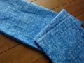 バティック・クロス(ジャワ更紗 バティック・チャップ/型押し染めバティック ブルー・植物の模様)BT113
