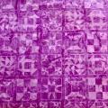 バティック・クロス(ジャワ更紗 バティック・チャップ/型押し染めバティック 薄紫・幾何学模様)BT124