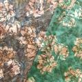 バティック・クロス(ジャワ更紗 バティック・チャップ/型押し染めバティック2種類 花柄 グレーグリーン・カーキ/グリーン・カーキ)BT126