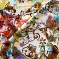 バティック・クロス(ジャワ更紗 バティック・チャップ/型押し染めバティック ワンチャンたち レッド系/ブルー系)BT153