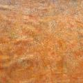 バティック・クロス(ジャワ更紗 バティック・チャップ/型押し染めバティック オレンジ・花柄E)BT158